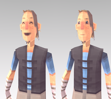 Lowpoly Hero (NEW FACE) by lithium-sound