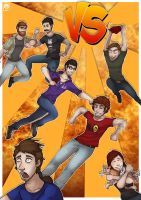 Fan Art - Achievement Hunter VERSUS by Frosted-Monster