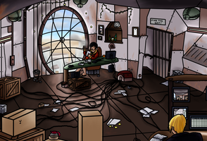 The Rusty office by Psi-Baka-Onna