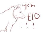 Set Price Wolf YCH! -OPEN- (paypal + price change) by nihtgield