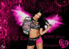 WWE AJ Lee Wallpaper by ShizuLeinXD