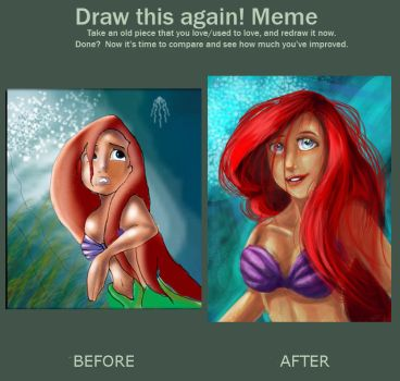 Draw it again ..The Little Mermaid by littlesusie2006