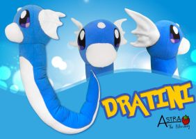 Dratini Plush by DemodexPlush