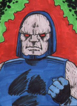 Darkseid Sketch Card - ECCC 2018 by pjperez