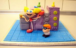 Dexters Lab Cake by ginas-cakes