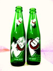 7-Up bottles by rainbeos