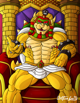 Praise your King -Bowser Party- by Wolfan-foxD