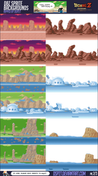 Dbz Sprites Backgrounds 2-3 by dsp27