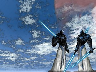 Old Republic Jedi Sentinels by cascarosan