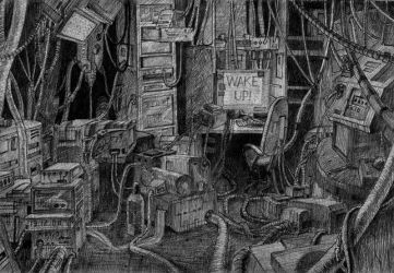 Serial Experiments Lain fanart by NecRum-2111