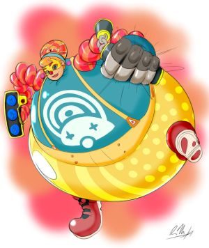 Lola Pop the inflatable clown fighter! by MilkyBody