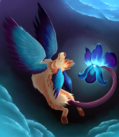 Blue Orchid Night Flight by Nestly