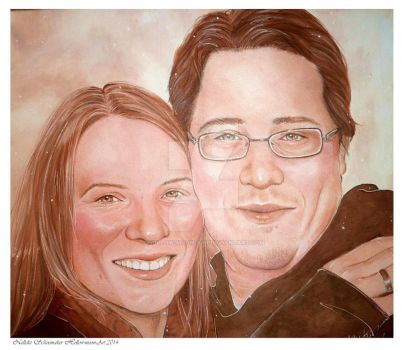 Portret couple by Hollow-Moon-Art