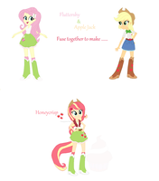 Fluttershy and Apple Jack fusion #1 by Lavender-Doodles