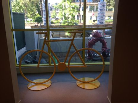 Bicycle Sculpture in Situ by ou8nrtist2