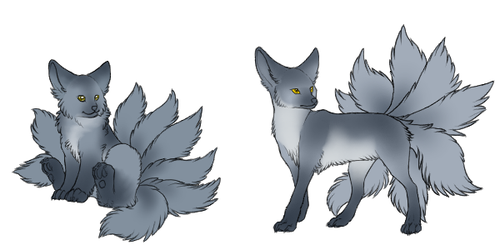 Kitsu - Adult and Baby by Zetapets