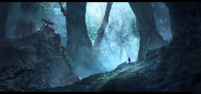 Paintics Challenge: Mystic Forest Outpost by Juhupainting