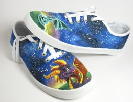 Hand Painted Spyro Shoes by Tiyku