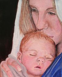 Gift - Mary and Baby Jesus by sweetpie2