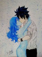 Juvia and Gray - Fairy Tail by AlexandraAlexis