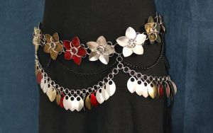 Blossoms and Petals Dancing Belt - Mannequin by SilverHauntArmoury