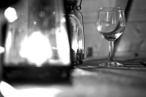 Lanterns and empty wine by Angband