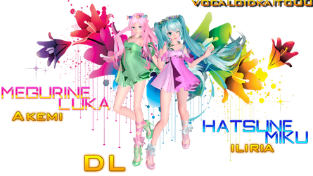TDA Luka and Miku [DOWNLOAD] by vocaloidkaito00