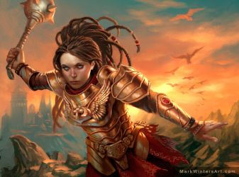 Warrior Preistess of Thune by MarkWinters