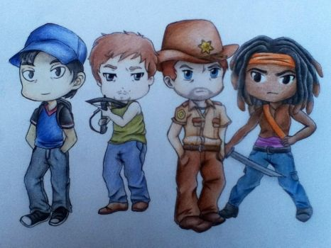 The Walking Dead Fanart by Racheii