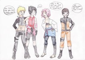 Funny team 7 + Sai by Kaneli90