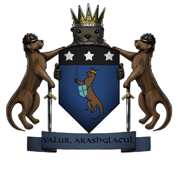 Otter Isle Coat of Arms by Kaloith