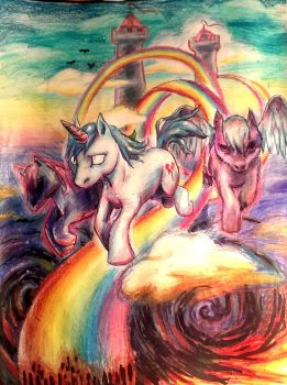 Over the rainbow by Katia-Gagne