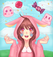 The world of Sweets + SPEEDPAINT by Ayat-Chan