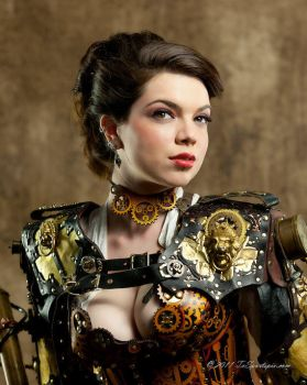 Parchment Leather Clockwork Choker by BruteForceStudios
