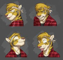 Commission: Travis's Expression Sheet #2 by Temiree
