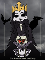 Raven Queen and Dolly by Zal001