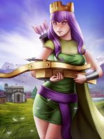 Archer Queen (ClashOfClan) by Moonarc