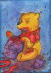 Zombie Pooh Sketch Card SOLD by angelacapel