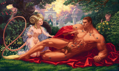 Lord Kaldor Draigo suffering sexual harrasment by LynxC