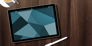 Edge on surface tablet concept picture by powerup1163