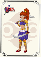 Xandra as a Legend of Zelda Gerudo character by LuckyLadyXandra