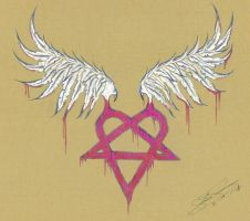 Heartagram by angelCrow