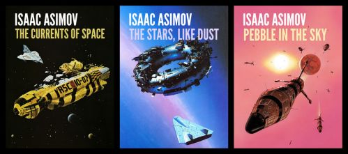 Galactic Empire Series (Isaac Asimov) Book Covers by aldomann