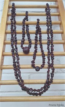 Necklace from the seed of tamarind and chestnuts. by Slidragon