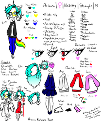 Arianna Reference Sheet by TheJewelKitty