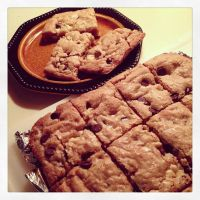 Walnut Chewy Cookie Bars by Deathbypuddle