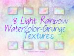 Rainbow-watercolor-grunge-textures by Chrisdesign