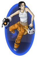 Chell by YamiRedPen