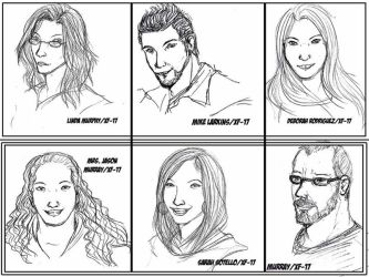 Real People Sketches by Xiao-Fury