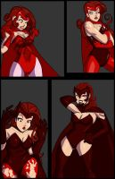 Spider-woman Scarlet Witch Comission 02 by kaioutei